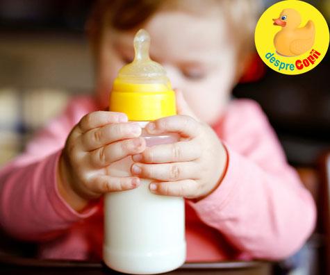 De ce lapte formula si nu lapte de vaca? Iata ce e mai bine pentru un bebelus si de ce