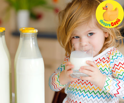 Iata de ce laptele integral este o alegere mai sanatoasa pentru copii decat cel degresat