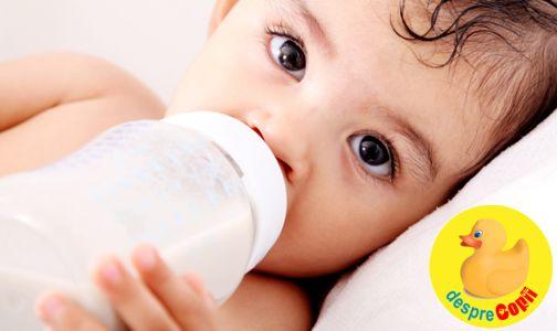 Laptele de vaca versus formula de lapte praf: care este cel mai bun, cand, si de ce