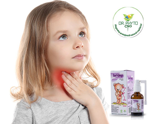 LARIDEP spray - trateaza inflamatiile tractului orofaringian