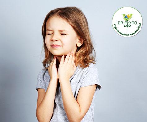 Tratament fitoterapeutic pentru faringite, amigdalite si stomatite la copii