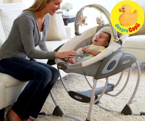 Leaganul pentru bebelusi: pentru minutele de relaxare care conteaza pentru bebe si mami