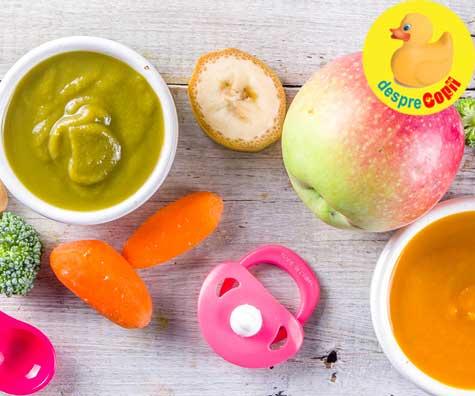 Diversificarea bebelusului: cu ce incepem cu fructe sau legume?