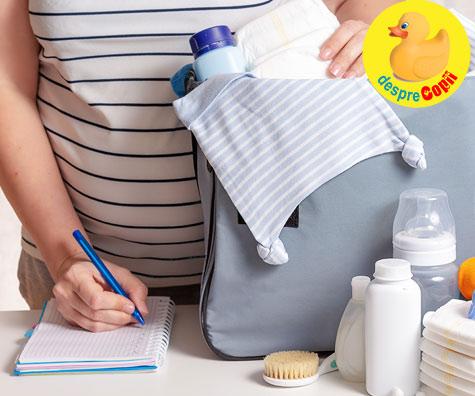 Lista cu lucrusoare pentru bebe - jurnal de sarcina
