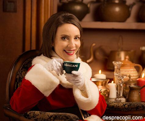 Doamna Craciun, vocea Doncafe, te ajuta cu idei pentru a face reala magia Sarbatorilor prin colinde