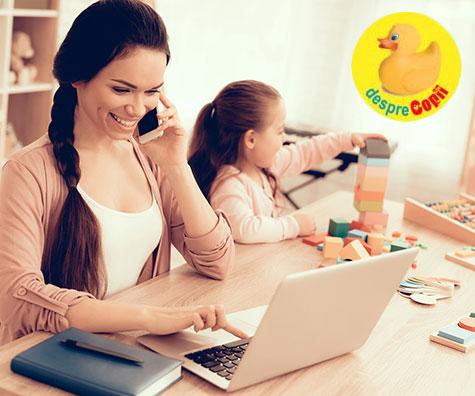 O zi din viata unei mame care lucreaza de acasa