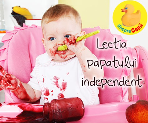 Lectia cum papam singur: la ce varsta incepe bebe sa fie independent la masa