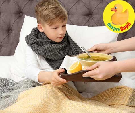Cum ne hranim copilasii atunci cand sunt bolnavi si nu se simt bine - iata sfatul medicului