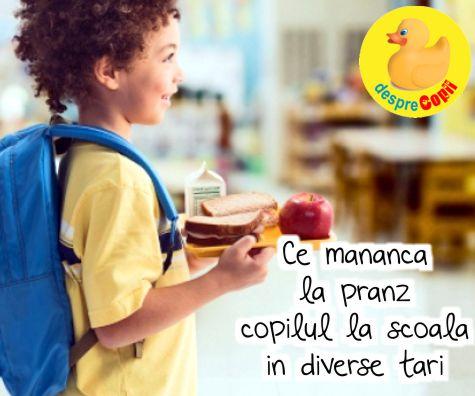 Ce mananca la pranz copilul la scoala in diverse tari