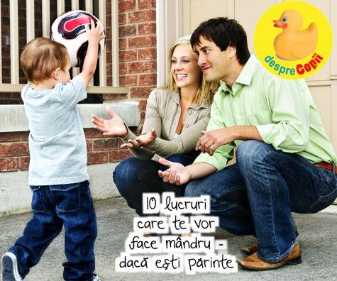 10 lucruri care te vor face mandru - daca esti parinte