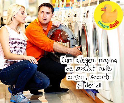 Cum alegem masina de spalat rufe: criterii, secrete si decizii