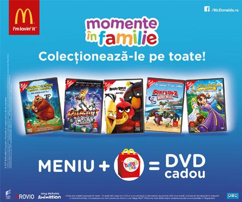 Momentele in familie sunt momente de colectie cu noua oferta de la McDonald's