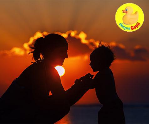 A deveni mama: o transformare dramatica. Toate sentimentele si emotiile isi schimba profunzimea.