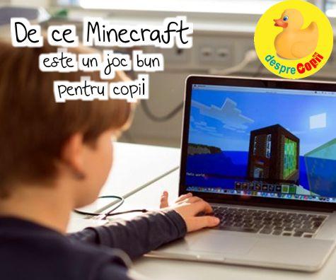 De ce Minecraft este un joc bun pentru copii