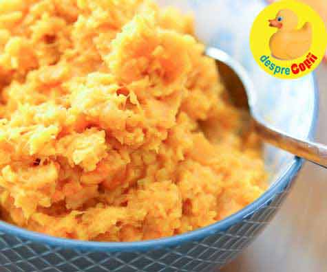 Piure de cartofi, morcovi si usturoi - reteta pentru bebelusi si copilasi