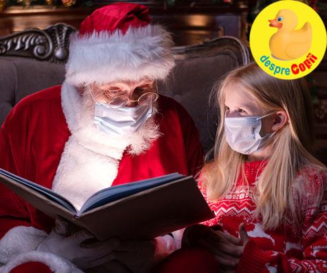 Interviu cu Mos Craciun in timp de pandemie. Copiii trebuie sa il citeasca.