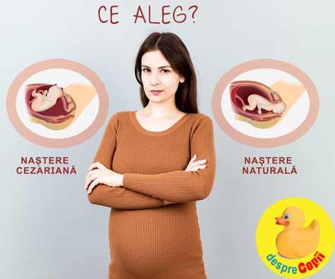 Nastere naturala sau nastere prin cezariana? Alegerea trebuie făcuta pentru binele mamei si copilului  - sfatul medicilor