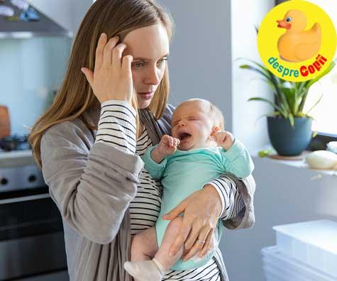 Bebelusul plange non-stop? Iata 14 sfaturi cu care il poti calma