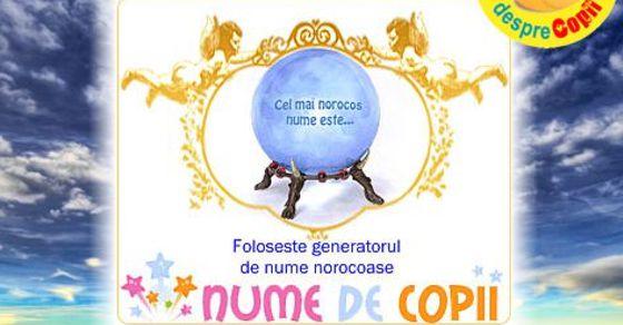 Generator de nume norocoase de copii