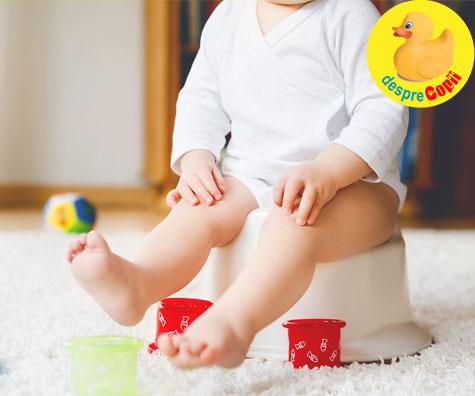 Copiii trebuie sa inceapa antrenamentul la olita la 12 luni - spune un psiholog celebru