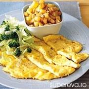 Omleta de branza si salata de brocoli