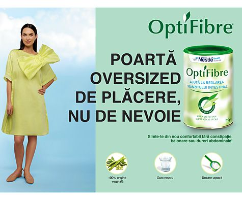 OptiFibre, un produs inovator care ajuta la reglarea tranzitului intestinal (P)