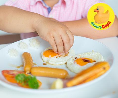 Cat de des putem oferi oua copiilor mici?