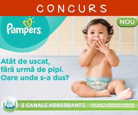 CONCURS - Castiga si tu unul din cele 50 de premii oferite de Pampers!