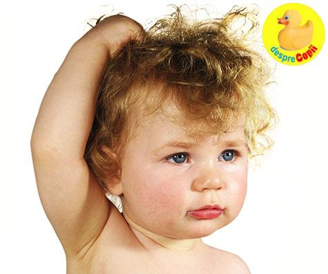 Cum ingrijim parul aspru al bebelusului?