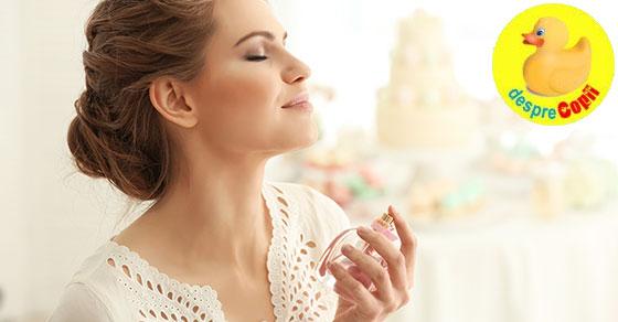 Sarcina si folosirea parfumurilor