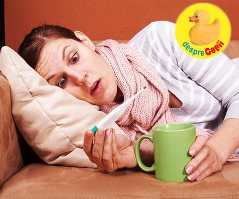 Si noi mamicile putem fi bolnave sau parenting de canapea pe timp de gripa si raceala