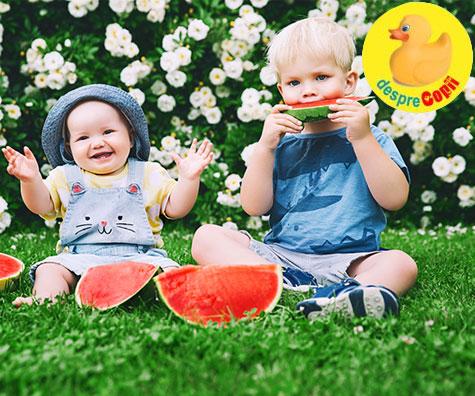 Cand pot sa ii dau bebelusului pepene?