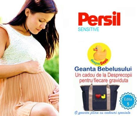 PERSIL SENSITIVE sustine gravidutele la Geanta Bebelusului 5