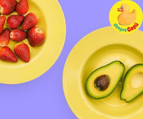 Piure de capsuni cu avocado - reteta pentru bebelusi