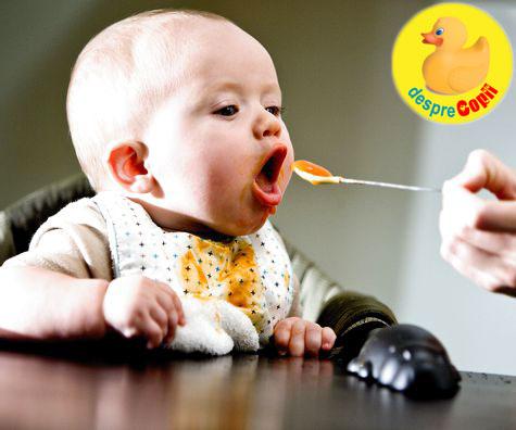 Retete de piureuri pentru bebelusi: lunile 4-6