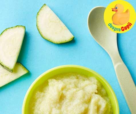 Piure de dovlecel si cartof - retete pentru bebelusi