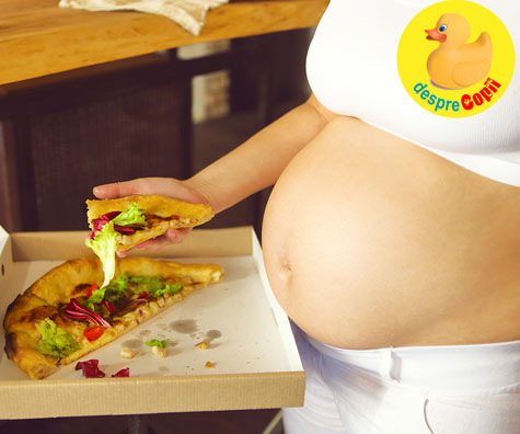 Pizza poate induce travaliul? Unele mame spun ca da