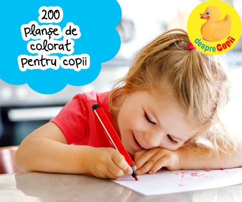 Peste 200 planse de colorat