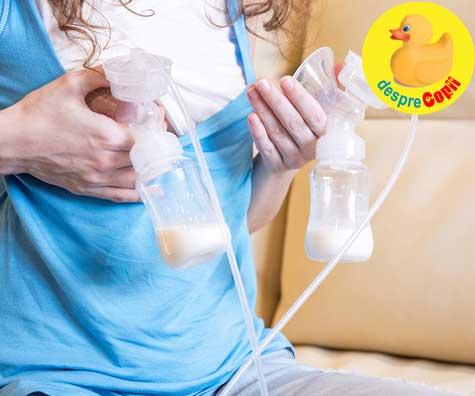 Greseli in alaptare: extragi prea mult lapte matern la pompare
