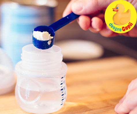 Diluarea formulei este periculoasa pentru sanatatea bebelusului - iata ce avertizeaza Academia Americana de Pediatrie