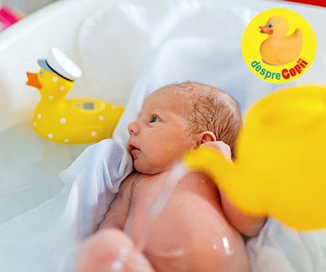 5 lucruri despre prima baie a bebelusului tau