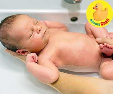 Prima baita a nou-nascutului. Fricile parintilor si surpriza bebelusului