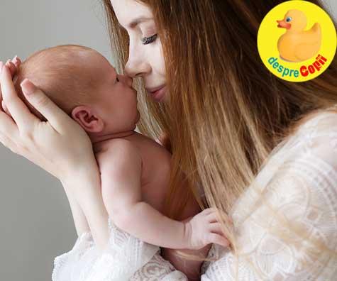 Prima saptamana a unui bebe nou nascut. Despre adaptarea lenta la lumea din afara burticii mamei
