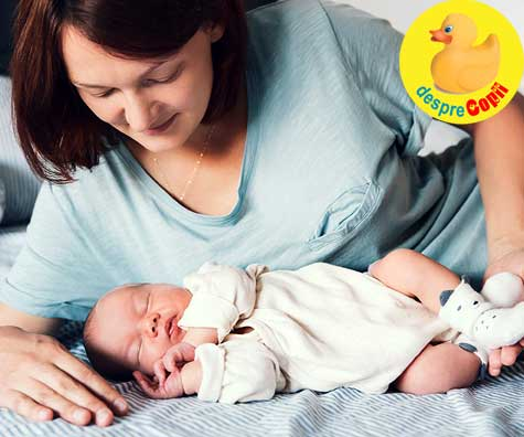 Prima zi cu bebe acasa - jurnal de mamica