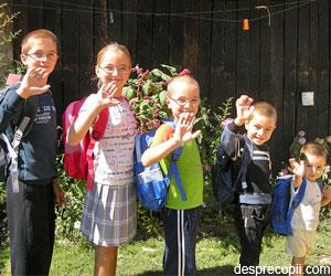 Spre prima zi de scoala cu speranta