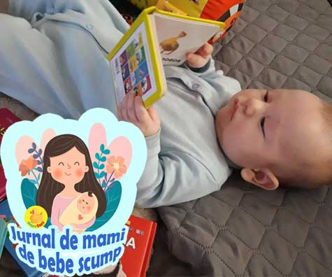Bebe are 5 luni: captivat de primele carticele insa nu am scapat de greva suptului - jurnal de mami de bebe scump