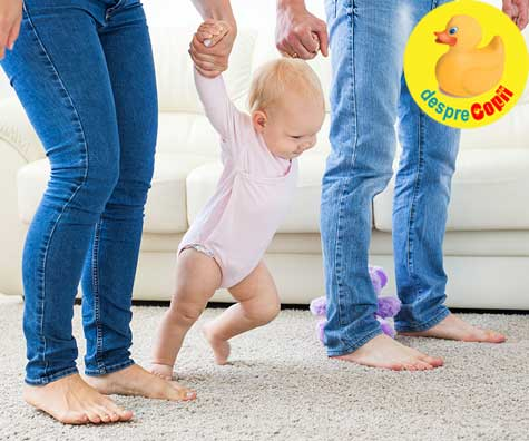 Cum sa-ti incurajezi bebelusul sa faca primii pasi singur