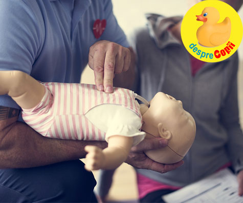 Primul ajutor cand bebe se ineaca - iata ce trebuie sa faci