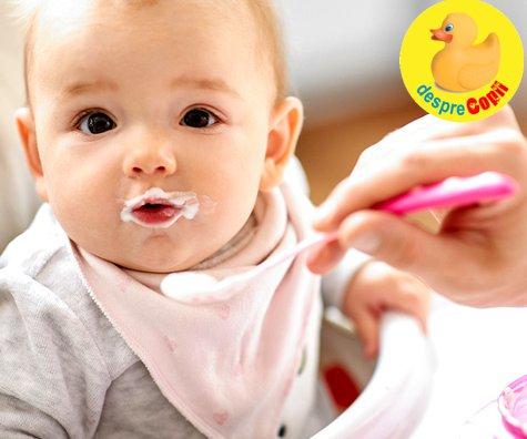 Primul aliment in diversificarea bebelusului: care si de ce