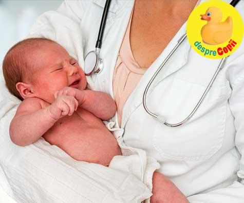 Primul consult medical post-externare al bebelusului nascut la termen - cum decurge si ce verifica medicul pediatru